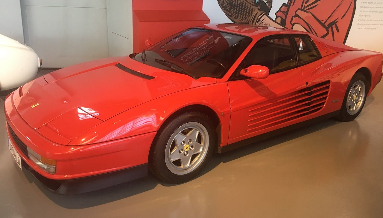 Ferrari Testarossa on display Autoworld, Belgium.