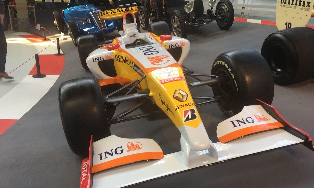 Renault Formula 1 R28 on display Autoworld, Belgium.